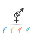 gender icon symbols of men and women vector image vector image