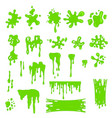 green slime effects different types set vector image