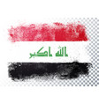grunge and distressed flag iraq vector image vector image