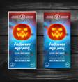 halloween flyerleafletcoversbannersbrochure vector image vector image