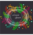 hand painted floral frame vector image vector image