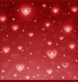 haphappy valentines day wrapping paper in red vector image