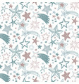 holiday seamless pattern with hand drawn vector image vector image