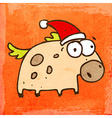 Horse with Santa Hat Cartoon vector image vector image