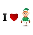 I love Christmas card vector image