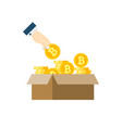 ico flat icon vector image vector image