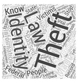identity theft law Word Cloud Concept vector image vector image
