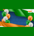 indian patriotic banner with space for text vector image vector image