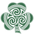 irish celtic design in vintage retro style vector image