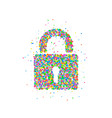 lock icon abstract vector image vector image