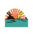 Man Sinking Dollar Sign vector image vector image