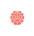 mindset pinky brain technology wires symbol logo vector image