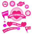mother day decoration elements vector image vector image