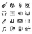 music icon set instrumental sounds and harmony vector image