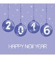 New Year decoration with glass balls vector image