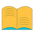 old open magic book icon cartoon style vector image