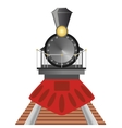 Old steam locomotive vector image vector image