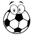 Outlined Cartoon Soccer Ball vector image vector image