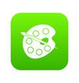 palette icon digital green vector image vector image