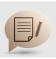 Paper and pencil sign Brown gradient icon on vector image vector image