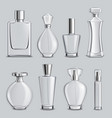 perfume glass bottles realistic set vector image