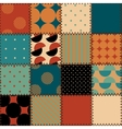 Quilting design in retro style vector image