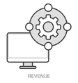 Revenue line infographic vector image vector image