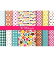 set colorful seamless retro patterns vector image