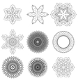 Set of Black Circle Ornaments vector image vector image