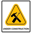 sign area under construction vector image vector image