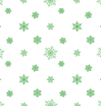 snowflake pastel green white background vector image vector image