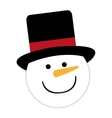 snowman character cute christmas vector image