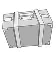 suitcase steel vector image vector image