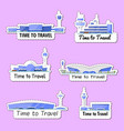 time to travel isolated labels set vector image vector image