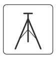 Tripod icon modern equipment vector image
