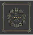 Vintage flourishes ornament frame template