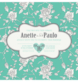 Vintage Wedding Floral Card vector image vector image