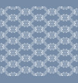 white decorative pattern vector image vector image