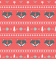 winter folk art seamless pattern in scandinavian vector image