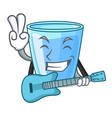 with guitar water glass isolated on the mascot vector image vector image