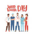 world health day banner with elegant lettering and vector image