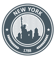 New York stamp with Statue of Liberty vector image