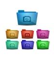 photo folder vector image