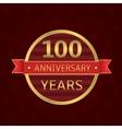 100 years anniversary vector image vector image