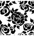 abstract grunge ink flower background roses black vector image vector image
