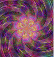Abstract rotating colorful fractal art background vector image vector image
