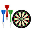 Accessories for the game of darts vector image