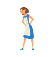 angry woman character in apron mother scolding vector image vector image