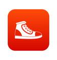 athletic shoe icon digital red vector image vector image