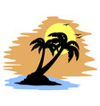 beach travel draw vector image